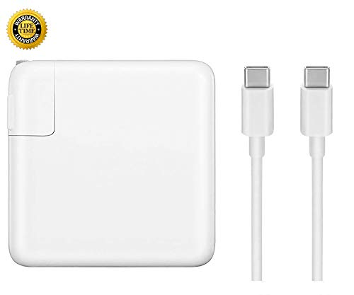 Replacement Mac Book Pro Charger, 87W USB-C to USB-C Ac Power Adapter Charger Compatible with...