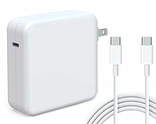 Kiolafy 96W USB C Power Adapter, Compatible with MacBook Pro Charger 13 15 16 inch 2020 2019 2018,...