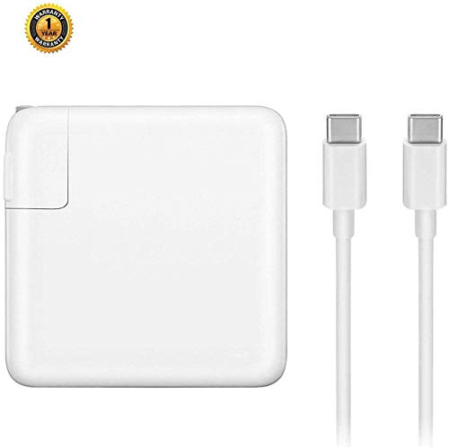 Replacement MacBook Pro Charger,61W USB-C to USB-C Ac Power Adapter Charger Compatible with Mac Book...