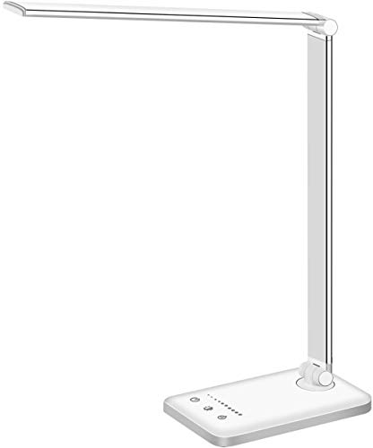 LED Desk Lamp, Eye-Caring Table Lamps, Natural Light Protects Eyes, 5 Modes, 10 Brightness Levels,...