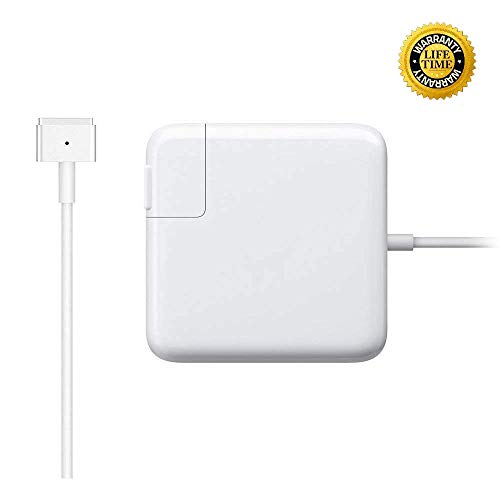 Mac Book Pro Charger, AC 85w Power Adapter Magsafe 2 T-Tip Adapter Charger Connector - Superior Heat...