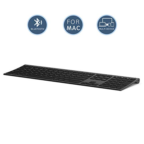 Multi-Device Keyboard for Mac OS/ iOS/ iPad OS, Jelly Comb Bluetooth Keyboard for MacBook Pro/Air,...