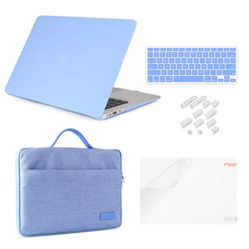 MacBook Air 11 Inch Case Bundle 5 in 1,iCasso Ultra Slim Plastic Hard Cover with Canvas...