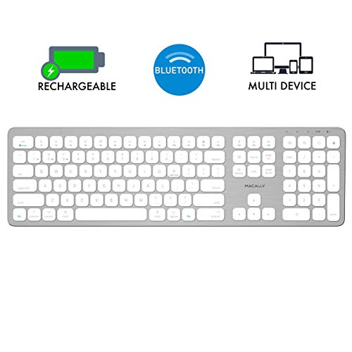 Macally Bluetooth Wireless Keyboard for Mac, iMac, Apple Mac Pro, Mac Mini, MacBook Pro/Air Laptop -...