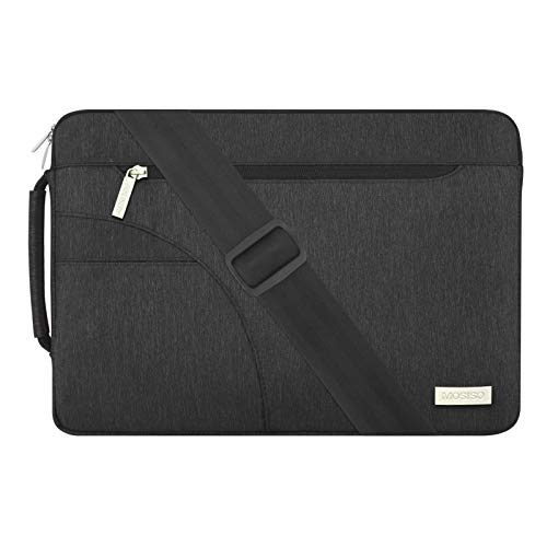MOSISO Laptop Shoulder Bag Compatible with MacBook Pro 15 inch A1990 A1707, 15 Surface Laptop 4/3,...
