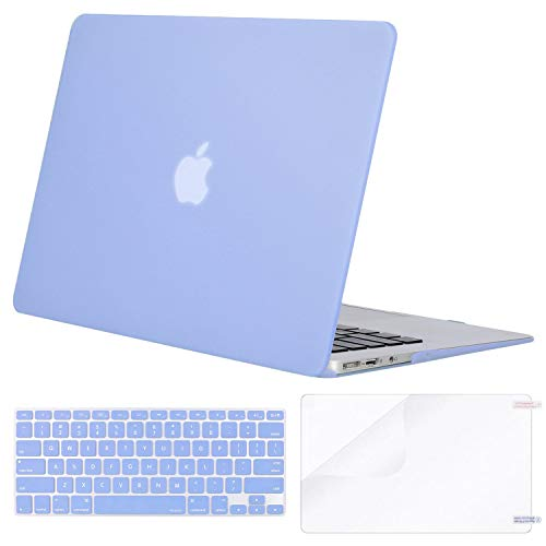 MOSISO Plastic Hard Shell Case & Keyboard Cover & Screen Protector Only Compatible with MacBook Air...