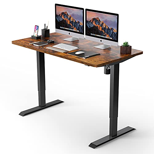 Electric Standing Desk, 48 x 24 inches Whole Piece Deskboard Adjustable Height Desk, Quick Assembly,...