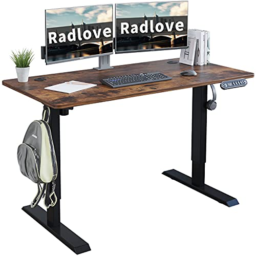 Electric Standing Desk 48 x 24 Inches, Radlove Height Adjustable Computer Desk Sit Stand Desk Home...