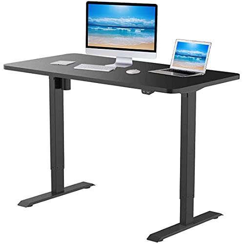 Flexispot Standing Desk 48 x 30 Inches Height Adjustable Desk Electric Sit Stand Desk Home Office...