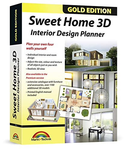 Sweet Home 3D - Interior Design Planner with an additional 1100 3D models and a printed manual,...