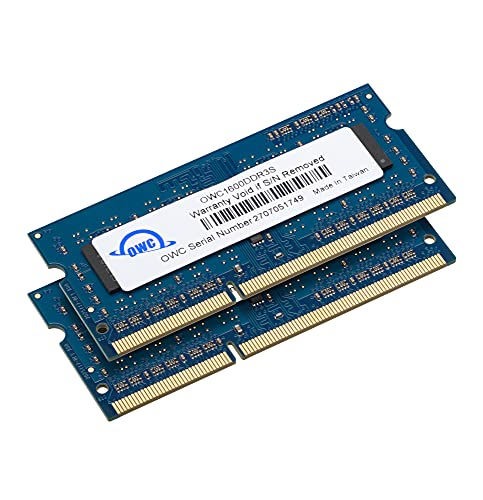 OWC 16GB (2x8GB) PC3-12800 DDR3L 1600MHz SO-DIMM 204 Pin CL11 Memory Upgrade Kit Compatible with...