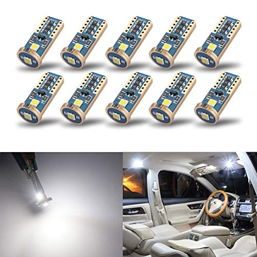 iBrightstar Newest Extremely Bright Wedge T10 168 194 LED Bulbs for Car Interior Dome Map Door...