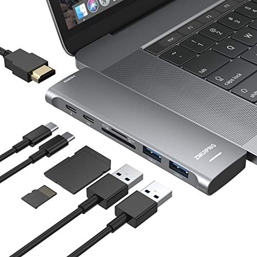 USB C Hub Adapter for MacBook Pro 2020/2019/2018/2017/2016, MacBook Air 2020-2018 with 4K HDMI, 2...