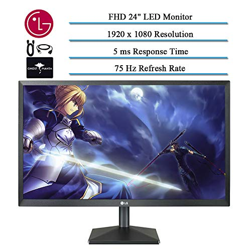 """2020 LG 24"""" IPS LED FHD FreeSync Monitor for Business and Student, 5 ms Response Time, 75 hz..."""