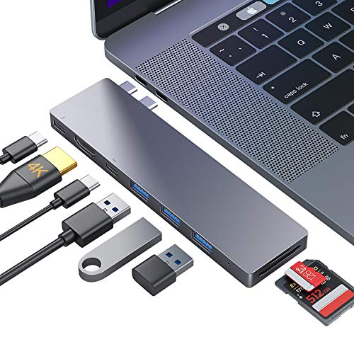 Ofima USB C Hub, MacBook Pro Air USB C Adapter, 8-in-2 Docking Station for MacBook Pro 2016-2020,...