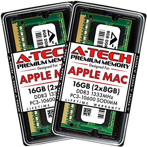 A-Tech 16GB (2x8GB) RAM for Apple MacBook Pro (Early/Late 2011), iMac (Mid 2010 27 inch 4-Core, Mid...